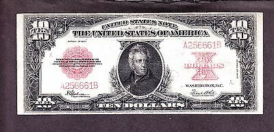 "US 1923 $10 US Note ""Poker Chip"" FR 123 F-VF (-661)"