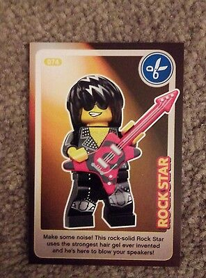 Lego Create The World Individual Card. Number 74: Rockstar. Sainsbury's.