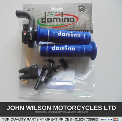 Domino KRR03 KRR 03 Quick Action Throttle Assy Track & Race Bikes Blue Grips