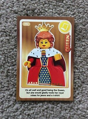 Lego Create The World Individual Card. Number 92: Queen. Sainsbury's.