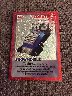 Lego Create The World Individual Card. Number 96: Snowmobile. Sainsbury's.