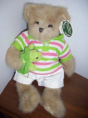 SHERMAN &SHELDON  Collectible Bearington Teddy Bear - Retired  with tags Holding