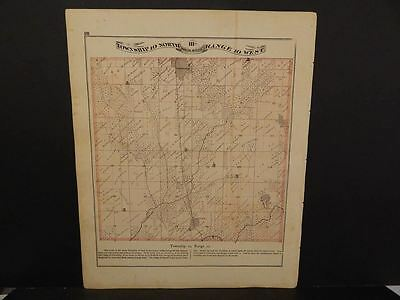 Illinois Greene County Map Greenfield Eastern & Fayette Townships  c.1872 Y12#42
