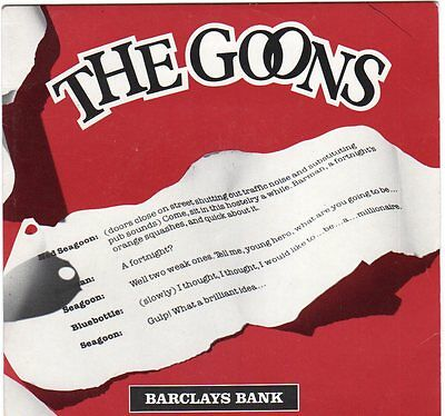 The Goons. Harry Secombe & Spike Milligan 1979 Barclays Flexidisc VERY FUNNY