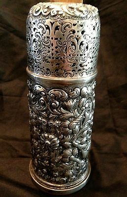 English Sterling Silver Sugar Caster Shaker Woodward Co 1890 Finley & Taylor