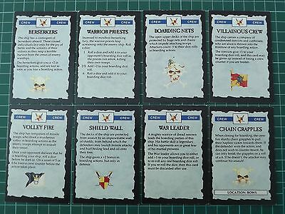 Man o War Crew Cards x8