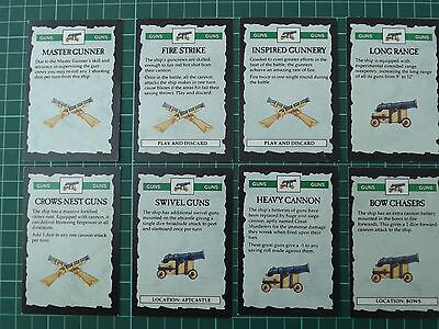 Man o War Gun Cards x8