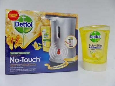Dettol No Touch Hand Wash System - Silver Coloured - With Citrus Refill - New
