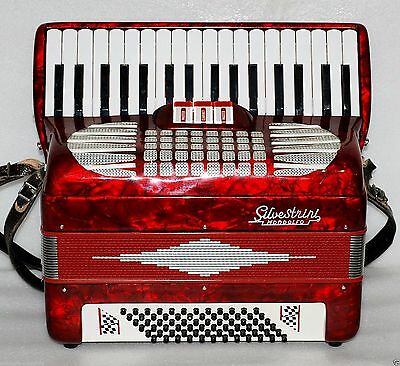 Silvestrini 72 BASS Piano Accordion Akkordeon Fisarmonica very good