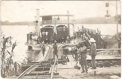 Jebba, Carrying train across River Niger, ferry, Nigerian railways RP postcard