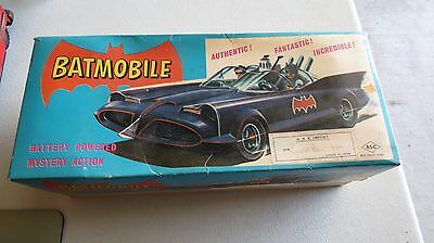 Vintage Tin Batmobile Asc Battery Operated Made In Japan