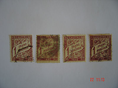 1884-1935 - Timbres taxe - n° 25,39,40,40A. cote 650€
