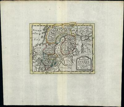 Zweden Sweden Norway Finland Russia Scandinavia c.1780 old antique Holtrop map