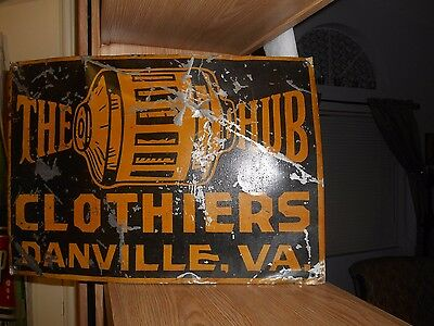 early 1900s' the hub clothers tin tacker sign