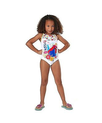 Authentic Disney Frozen Anna and Elsa Swimsuit for Girls White Size 2,3,4,5/6