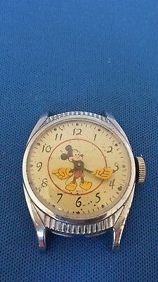 Rare 1948 Ingersoll/us Time Disney Birthday Mickey Mouse Character Watch Running