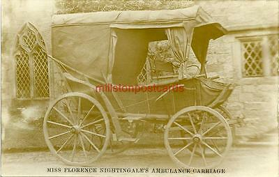 Real Photographic Postcard Of Miss Florence Nightingale's Ambulance Carriage