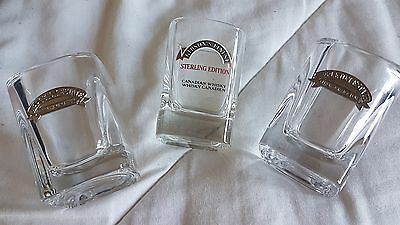 Appleton Estate and Gibson's Finest shot glasses great condition pewter labels