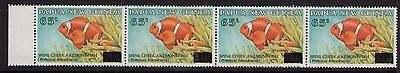PNG 1994 EMERGENCY O/P 65t ON 70t ANEMONE FISH X 4 STRIP
