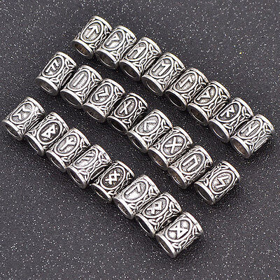 1 Pc Rune Viking Bead For Jewelry Making DIY Beard Hair Jewellery Bracelet