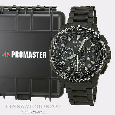 Authentic Citizen Eco-Drive Promaster Navihawk Chronograph Watch CC9025-85E