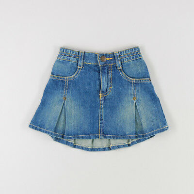 Falda vaquera tablas de color Denim claro de marca Benetton 24 Meses