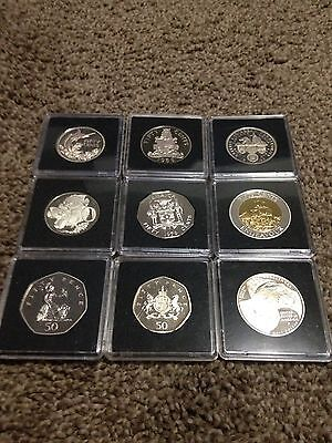 World Proof 50c Coin Set ALL UNC or Your Choice