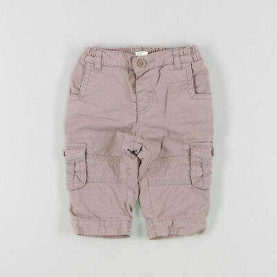 Pantalón safari con forro de color Marrón de marca Benetton 3 Meses