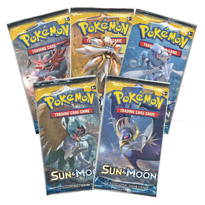 NEW! Pokemon TCG. Sun and Moon 4 Booster Packs! Collectable Cards.