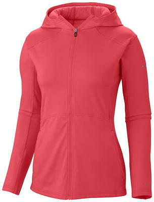 Columbia Trail Crush Sporty Hoodie, Womens Jacket, Red Hibiscus, L