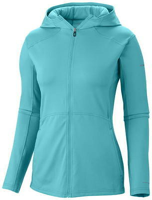 Columbia Trail Crush Sporty Hoodie, Womens Jacket, Geyser Blue, L