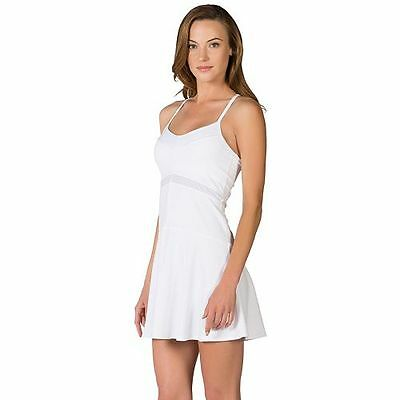 Nwt Tonic Active Tennis Collection Power Dress In All White Size M $92.00