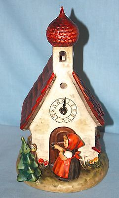 HUMMEL Chapel Time  CLOCK Figurine ~ GOEBEL W. Germany THE LOVE LIVES ON ~ w/box