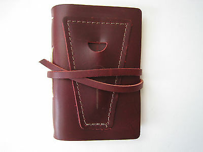 RUSTICO LEATHER GOLF LOG with POCKET NICE  MADE IN USA