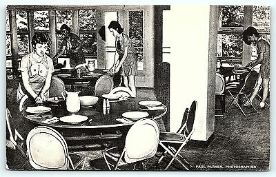 Postcard Girl Scout Dining Room Manor House Rockwood Bethesda MD R01