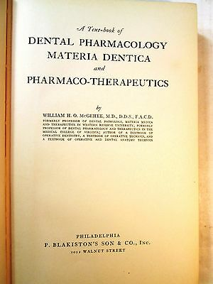1936 Dentistry Book DENTAL PHARMACOLOGY MATERIA DENTICA PHARMACO THERAPEUTICS