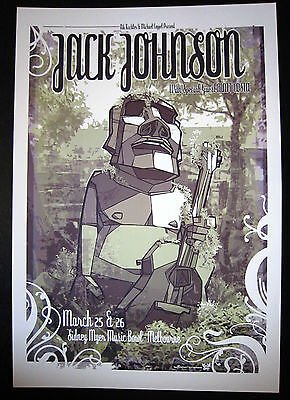 Jack Johnson - 2010 - Matt Costa - Daymon Greulich - Melbourne -Tour Poster -