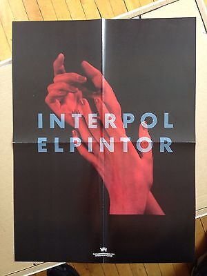 Interpol large 2-sided promo poster Elpintor LP