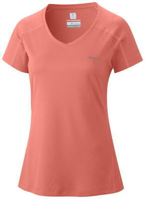 Columbia Women's Zero Rules Short Sleeve Shirt - S, CORAL FLAME