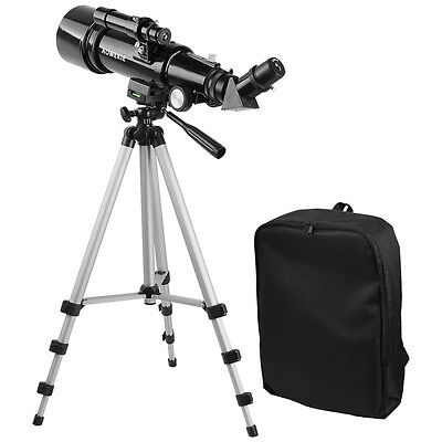 400x70mm Refractor Astronomical Telescope Optical Lens With High Tripod&Backpack