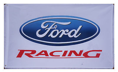New White Ford Racing Flag Ford car Banner 3X5 Flags - free shipping