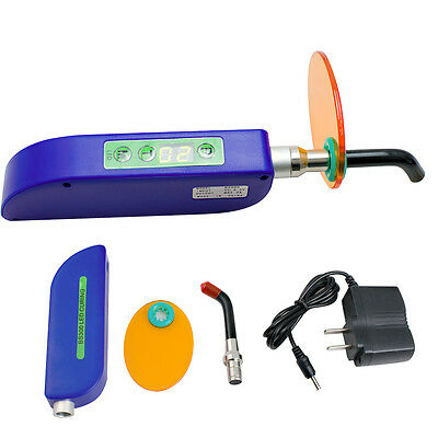 FDA 2017 Dental Wireless Cordless LED Cure Curing Light Lamp 1500mw for Dentist