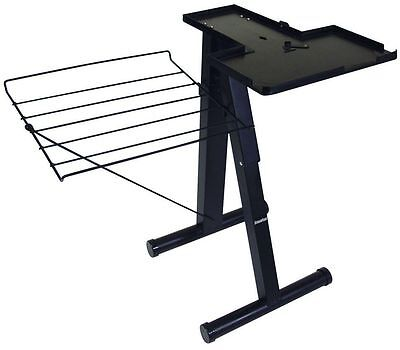 24 in. Steam Press Stand Free Standing Iron Clothes Garment Folding Board Black
