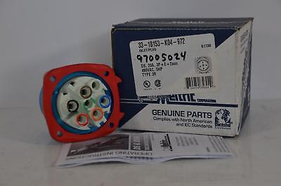 NEW Meltric 33-18153-K04-972 Inlet Plug DS 20A, 3P 480V, 5HP Type 3R