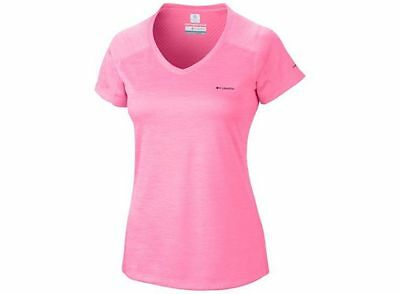 Columbia Women's Zero Rules Short Sleeve Shirt - M, PNK