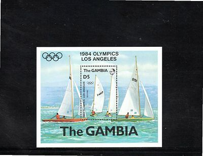 Gambia 1984 Olympic Games Los Angeles miniature sheet SG MS533 MUH
