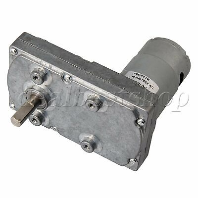 High Torque Metal Gear Motors Silver DC 12V 5RPM Square Electric Drive Motor
