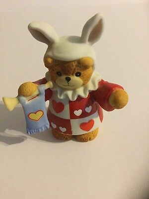 Lucy Rigg Lucy & Me March Hare Bear Bunny Ears Hearts Figurine 1987