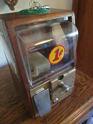 Baby Grand 1 cent Gumball / Peanut Vending Machine with Keys