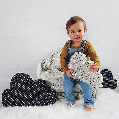 Large Navy Cloud Cushion - Kids Room - Baby Nursery - Kids Home Decor - Cute